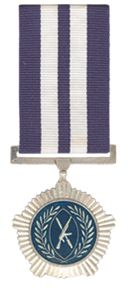 South Africa. The Silver Medal for Merit, post-nominal letters SMM, was instituted by the President of the Republic of South Africa in April 1996. It was awarded to veteran cadres of the Azanian People's Liberation Army, the military wing of the Pan Africanist Congress, for exceptionally meritorious service and particular devotion to duty during The Struggle