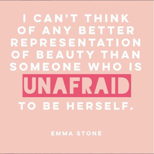 True beauty / Emma Stone quote