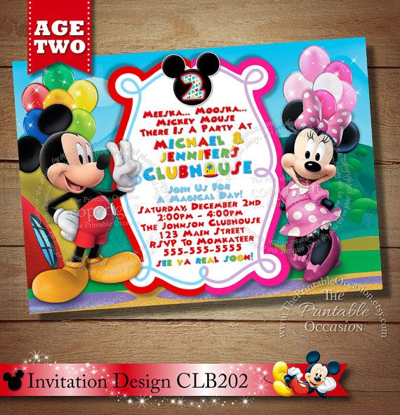 mickey mouse clubhouse 2nd birthday invitations - Yenimescale