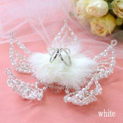 Цветочные лепестки обмена бисером кольцо подушку кольца ручной комплект невесты свадьба Pearl