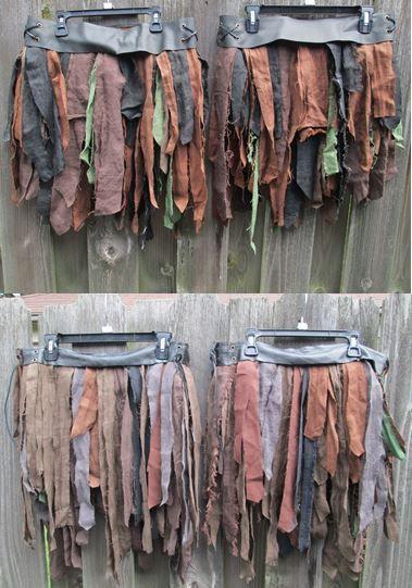 Linen Wrap Skirt Tribal Fantasy Renaissance Style by FolkOfTheWood