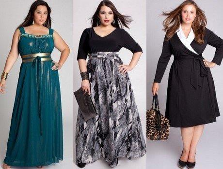 Как подобрать платье для полной фигуры