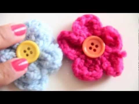 Flores tejidas con gancho