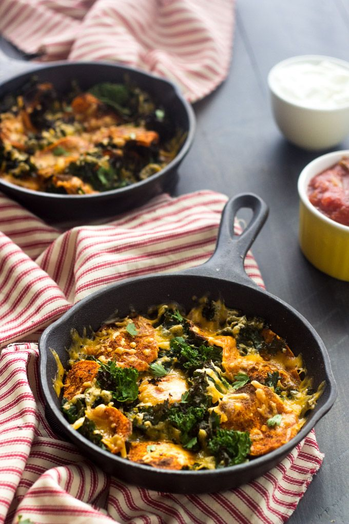 Sweet potato and kale nachos + 4 other delicious recipes in this week's Vegetarian Winter meal plan | Rainbow Delicious