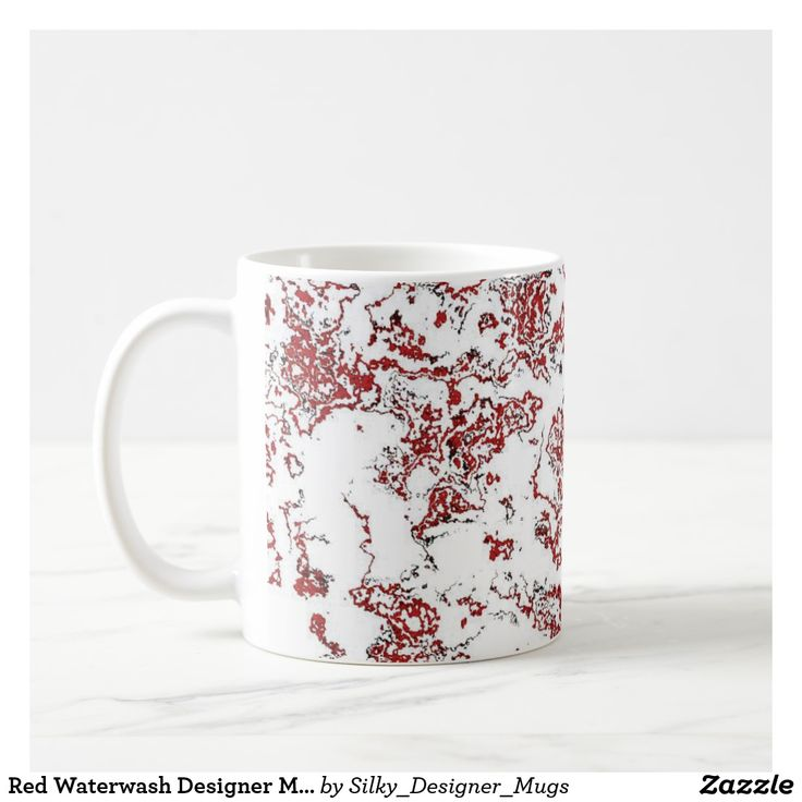 Red Waterwash Designer Mug 5
