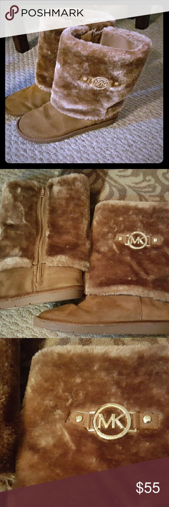 Very cute mk light brown boots. Light brown mk boots, absolutely cute???? mk Shoes Ankle Boots & Booties