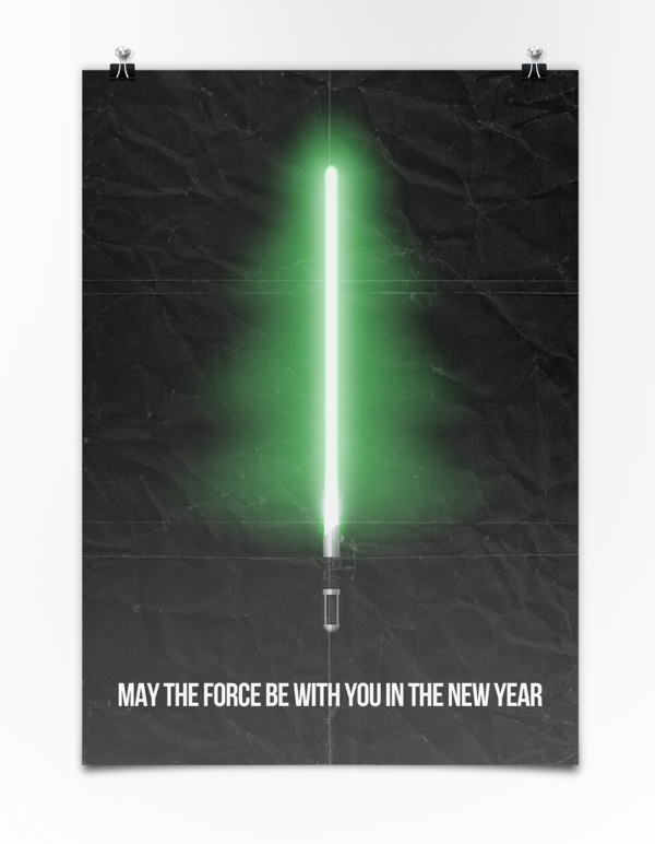 May the Force be with you in the New Year by Seva Varfolomeev, via Behance: