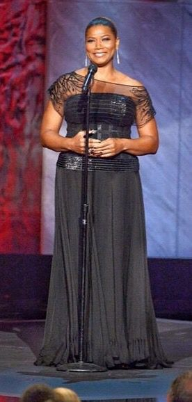 A look back at the beautiful Queen Latifah in Edition by Georges Chakra at the AFI Lifetime Achievement Award Tribute to Steve Martin.