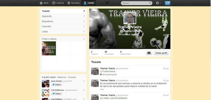 Cuenta Twitter de Trainer Vieira