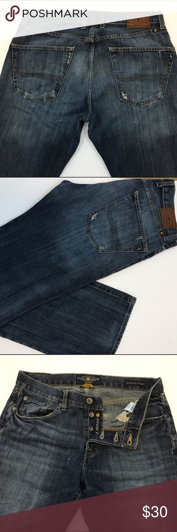 Men's Lucky Jeans Men's 221 Original Straight. Gently worn. 33x30. Lucky Brand Jeans Straight