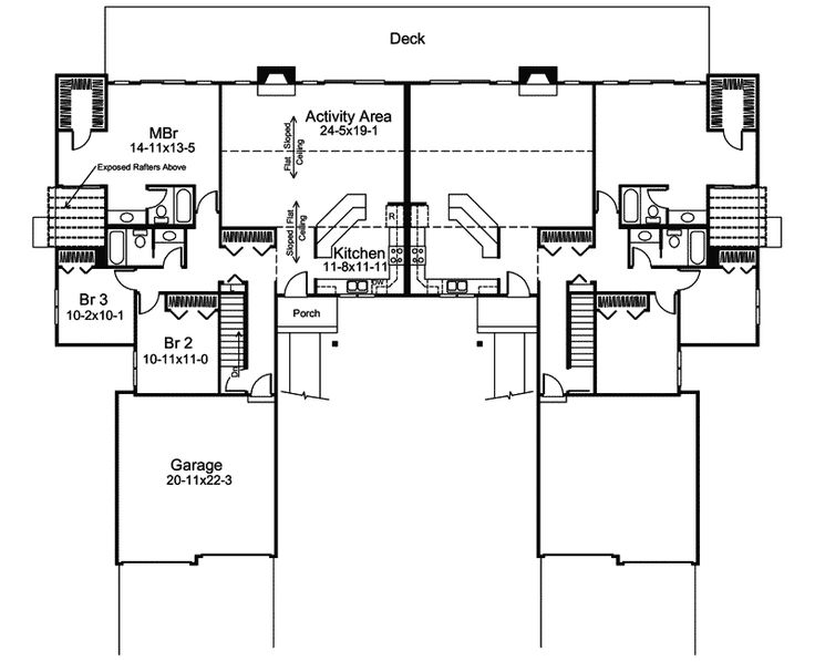 345 Best Images About Duplex Plan On Pinterest Craftsman