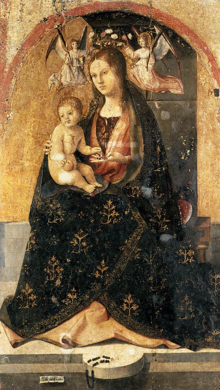 Madonna and Child by Antonello da Messina, 1473.