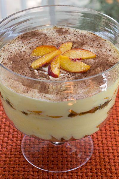 Peach Pistachio Praline Trifle | Trifle-ing. | Pinterest