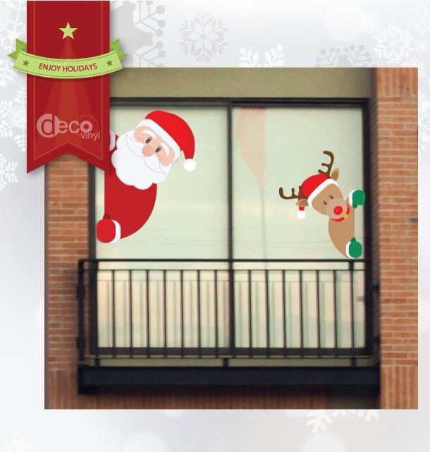 Vinilo decorativo Ref: Santa & Reno