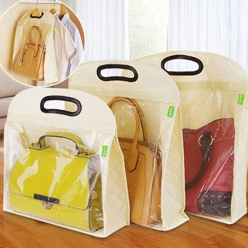 Handbag Backpack Storage Bag Wardrobe Dustproof Cover Handle Keep Clean  Organizer