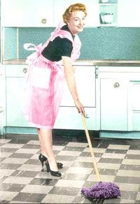 Clean Green:  Mop Your Floors with Vinegar: 1/2 c vinegar to 1 gal water.  Opt: Add dish soap or peppermint.