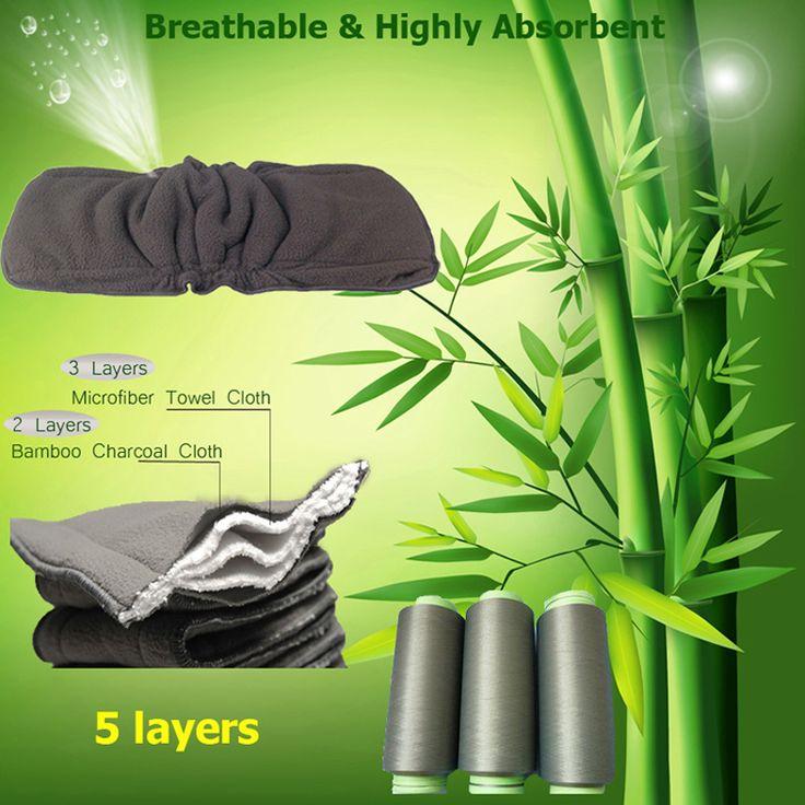 Babyverzorging Pasgeboren Bamboe Luier Inserts Wasbare Voering Peuter Zuigeling 5 Lagen Bamboe Luiers Reuseable Aankleedkussen
