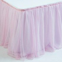 Light Pink Tulle Table Skirt