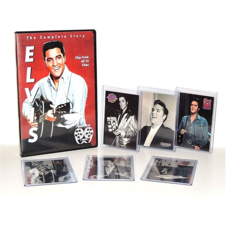 Elvis Presley The Complete Story DVD 33 Film Clips + 6 Collector Trading Cards