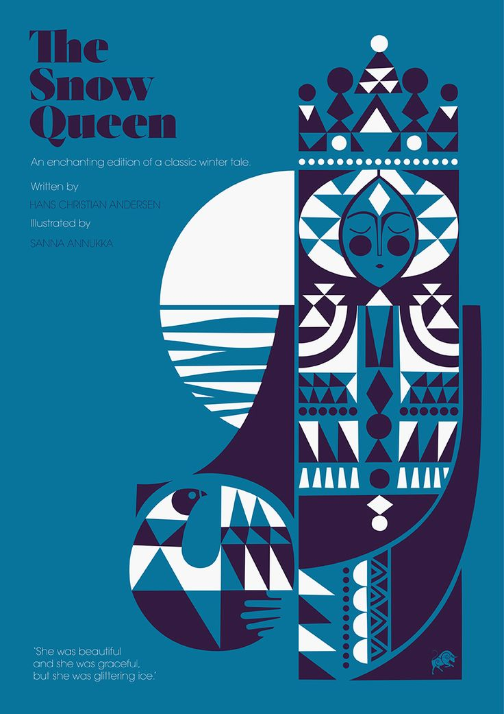 """penguindesign: """" Copyright Sanna Annukka Artist, printmaker, and textile designer Sanna Annukka discusses her beautiful reworking of the Hans Christian Andersen classic The Snow Queen, with stunning..."""