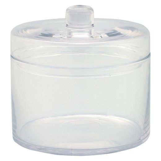 """Diamond Star Glass Apothecary Jar with Lid Clear (6.5""""x6.5"""") : Target"""