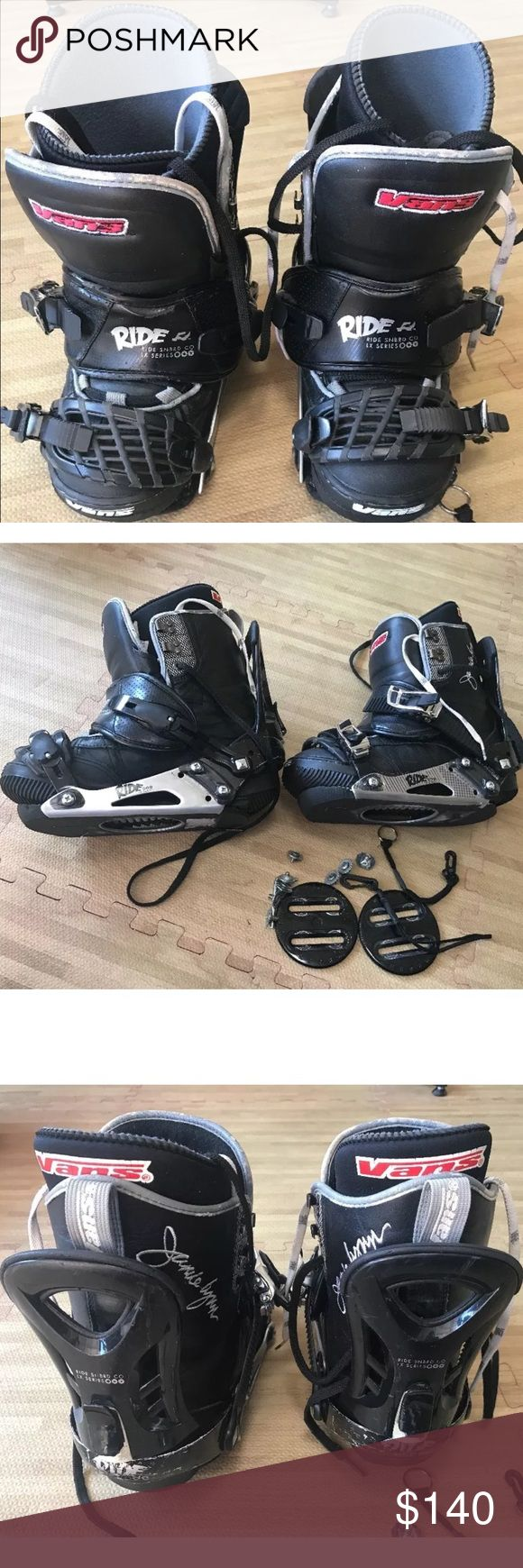 Selling this Vans Jamie Lynn snowboard boots & ride bindings on Poshmark! My username is: whalesand. #shopmycloset #poshmark #fashion #shopping #style #forsale #Vans #Other