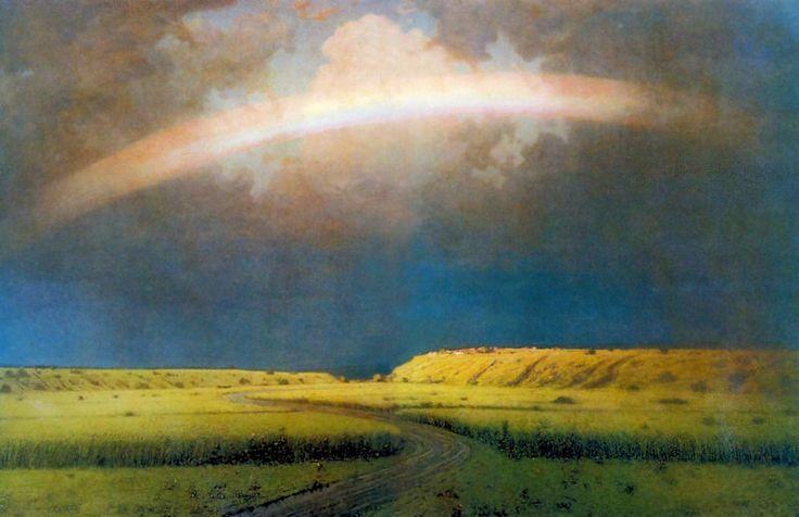 Картина А. И. Куинджи - Радуга. Год: 1900-1905