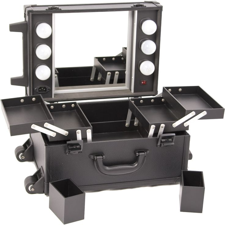 MakeupCreations - Mini Lighted Studio Rolling Makeup Case - Black, $219.99 (http://www.makeupcreations.com/mini-lighted-studio-rolling-makeup-case-black/)