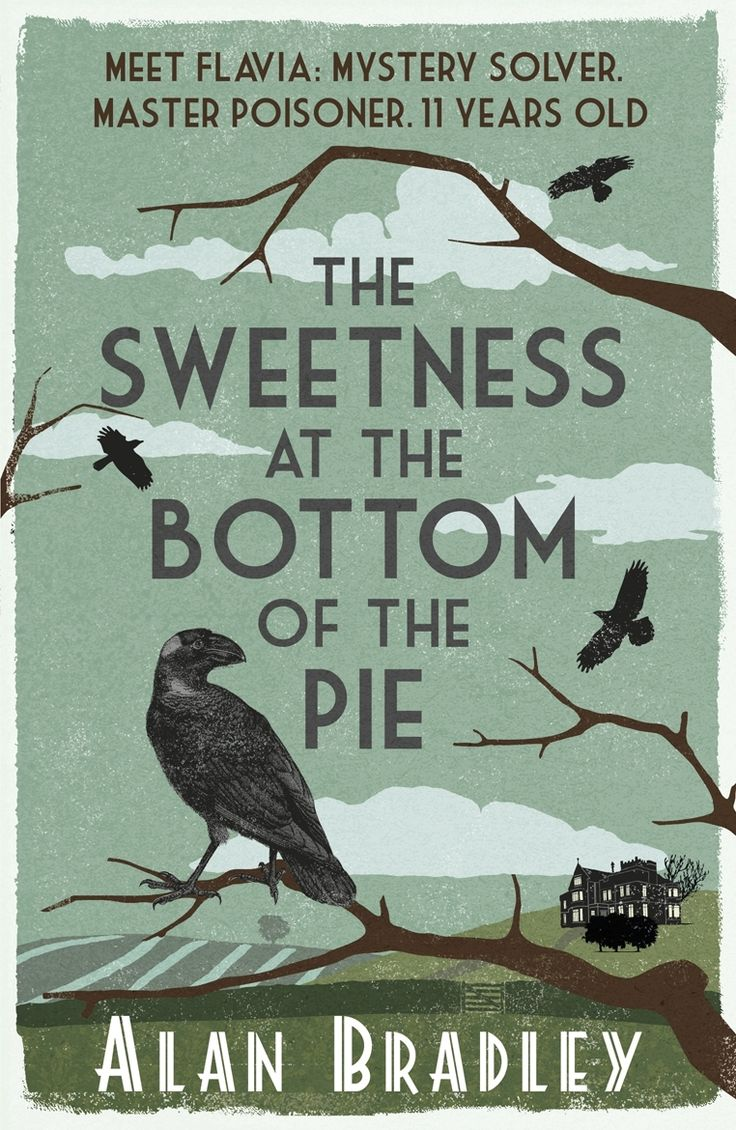 """""""The Sweetness at the bottom of the pie"""", by Alan Bradley - It is the summer of 1950–and at the once-grand mansion of Buckshaw, young Flavia de Luce, an aspiring chemist with a passion for poison, is intrigued by a series of inexplicable events: A dead bird is found on the doorstep, a postage stamp bizarrely pinned to its beak. Then, hours later, Flavia finds a man lying in the cucumber patch and watches him as he takes his dying breath. And so it begins."""