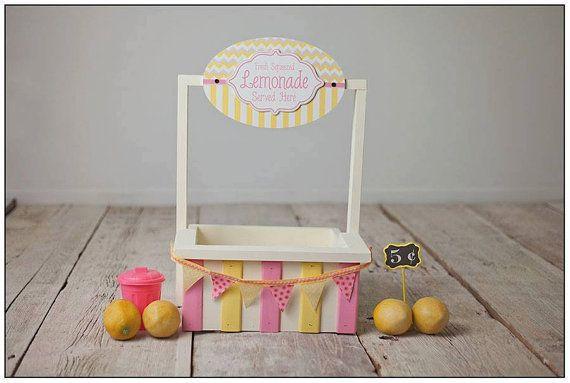 Stand de limonade avec Mini bannière, poubelle et signe