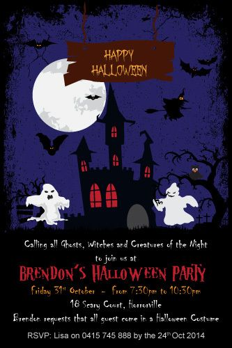 28 best Halloween Invitations - Halloween Invitations Printable - halloween invitation template
