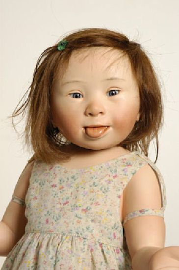 "Anne Sophie Measures 20.5"" Or 52cm In Height And Is Limited To 5 Pieces Worldwide. She Is A Little Girl From The Netherlands With Down Syndrome.  She is adorable...and only $3,880.00"
