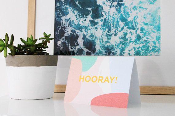 Hooray celebration card by ithinkcreative on Etsy