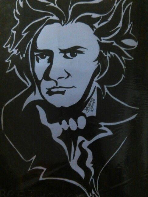 Drawing of Beethoven