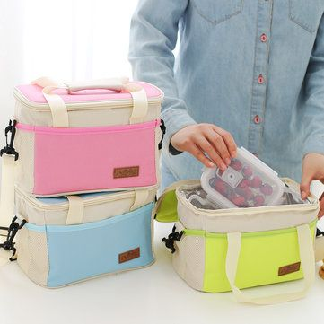 Hand-held Lunch Tote Bag Folding Picnic Cooler Insulated Handbag Storage Containers Cheap - NewChic Mobile.