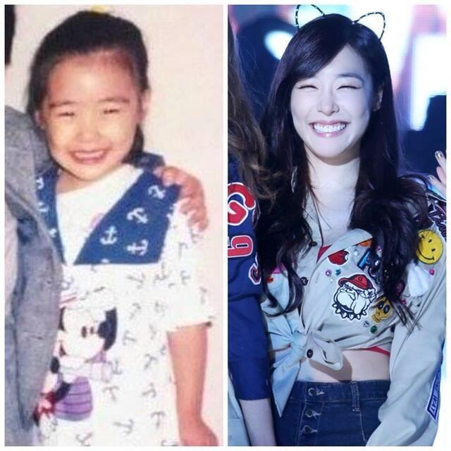 snsd tiffany hwang baby eye smile hwang miyoung