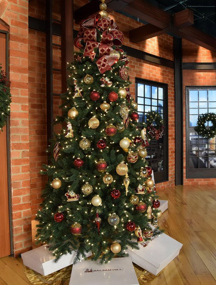The presence of Balsam Hill's King Mountain Pine Christmas Tree bestows a regal air upon any room. Now offered with our innovative Easy Plug™️ technology, this artificial pine tree sets up faster than ever before, giving you more time to relax and decorate with loved ones.