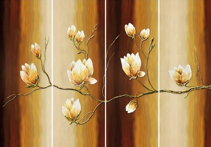 Ein echter Blickfang! Das 4-teilige Bild »Magnolien«. Diese Blüten sind immer ein »Eyecatcher« und geben dem Raum eine besondere Note.  Artikeldetails:  Mit Aufhängevorrichtung, Auf MDF Platte aufkaschiert, Maße (B/H): 4x 25/70 cm,  Material/Qualität:  MDF 12 mm Platte,  ...