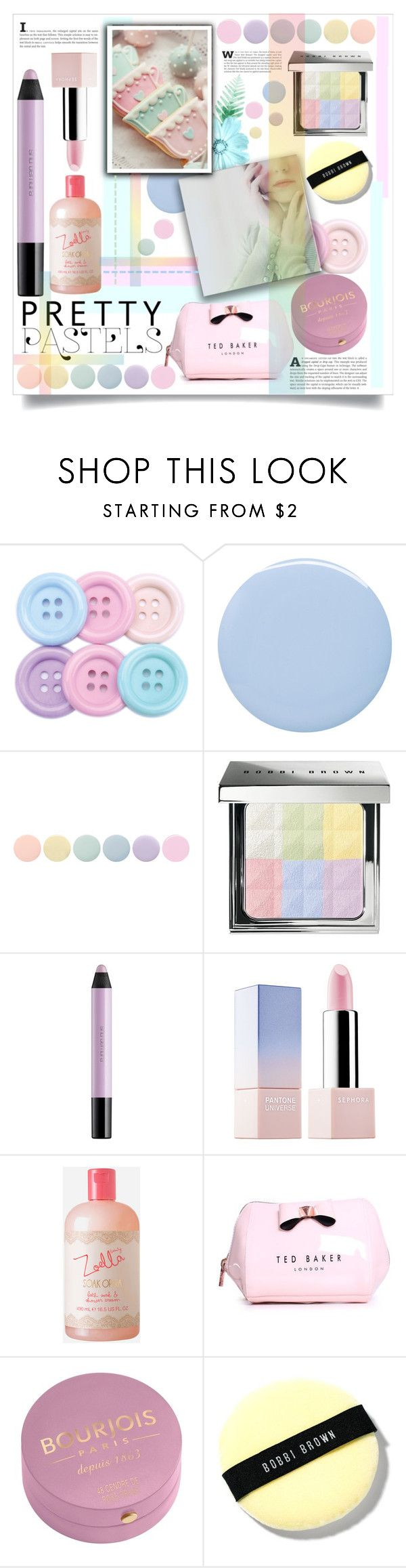 """""""Pretty Pastel!"""" by patria ❤ liked on Polyvore featuring beauty, Deborah Lippmann, Bobbi Brown Cosmetics, shu uemura, Sephora Collection, Zoella Beauty, Ted Baker, Bourjois, Beauty and makeup"""