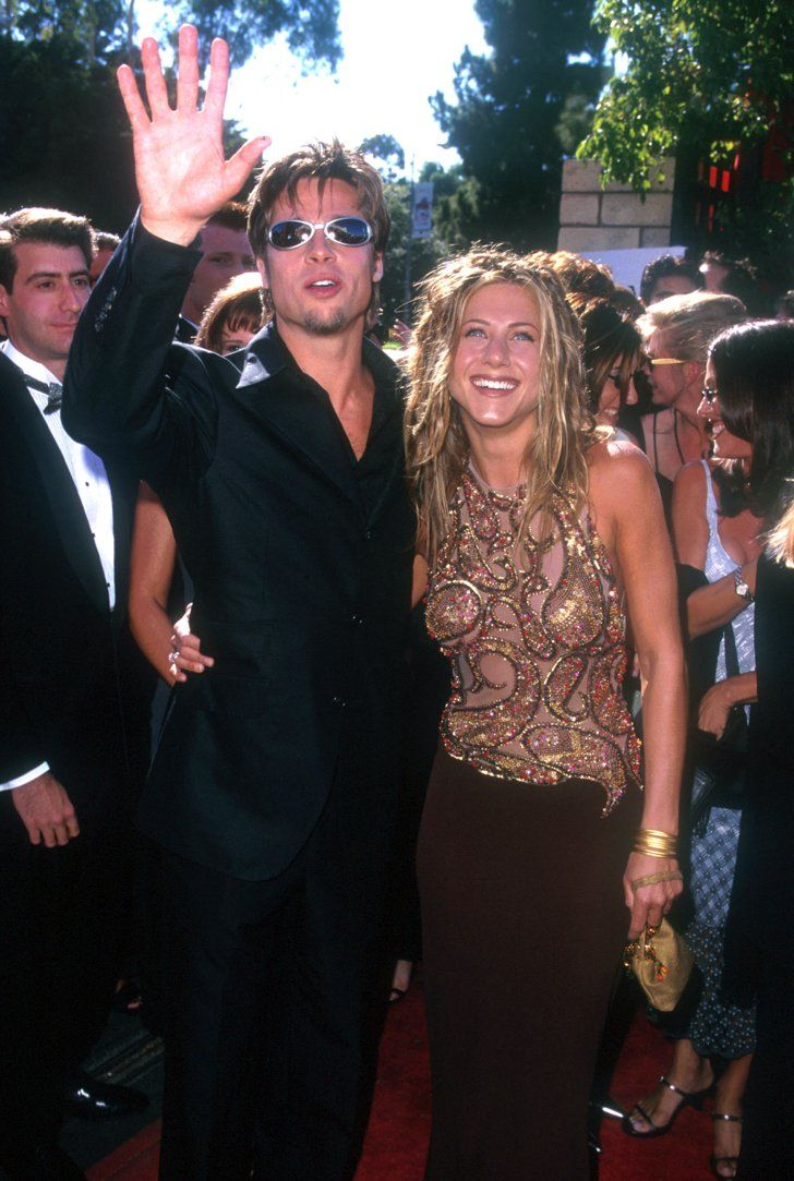 Pin for Later: Look Back at the Former Couples You Forgot Attended the Emmys Together Brad Pitt and Jennifer Aniston, 1999