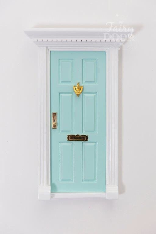 Beautiful Aqua Fairy Door... guaranteed to delight!  Our beautiful range of Fairy Doors and equally irresistible accessories are guaranteed to bring some magic and happiness wherever they go!  Help to ignite children's imaginations - Fairy Doors make the perfect gift for both boys and girls alike!  Little Boo-Teek - Aqua Fairy Door | Fairy Door Store | Shop Kids Wooden Toys Online