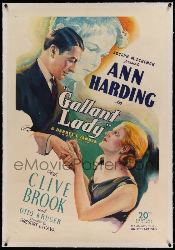 1 of 1 : 5a093 GALLANT LADY linen 1sh '33 Brook loves Ann Harding who wants her baby she gave away, rare!