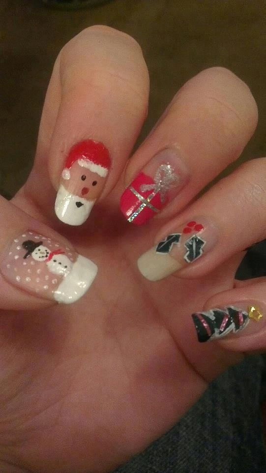 Christmas Nail Art By Pam Davies