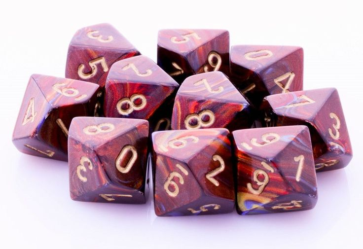 Scarab Dice (Blue Blood) | 10 X D10 Dice Set