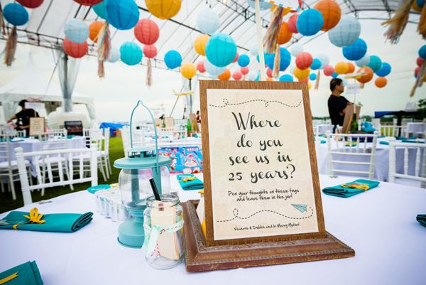 Guest book alternative - Where do you see us in 25 years? | Top 10 Unique Wedding Styling Ideas