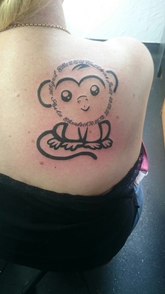 Monkey Tattoo Paper Street Studio Tattoos Monkey