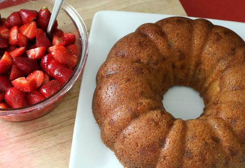 Double-Ginger Sour Cream Bundt Cake With Ginger-Infused Strawberries ...