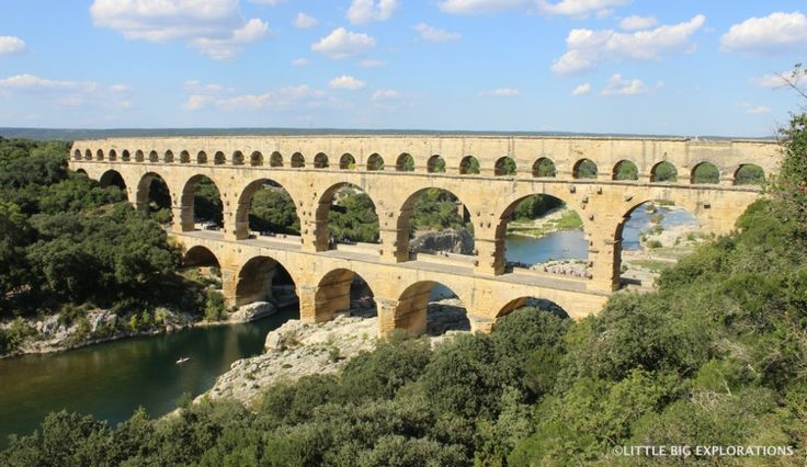 Pont du Gard, a must see 2000 years old monument in south of France built during the roman times.