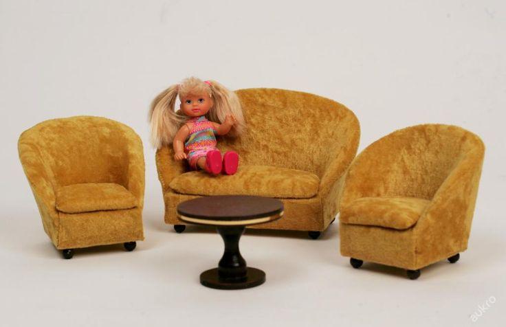 Luxusní ručně vyráběný nábytek pro panenky -Zlatý (5150144056) - Aukro - největší obchodní portál