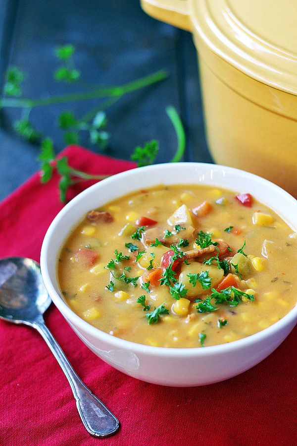 Potato Bacon Corn Chowder (Gluten Free, Dairy Free)